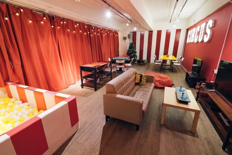 Party Room 荃灣 Hong Kong hk 香港 玩樂活動 C-Dwell Party - 紅白馬戲團主題房 適合 10 至 30 人