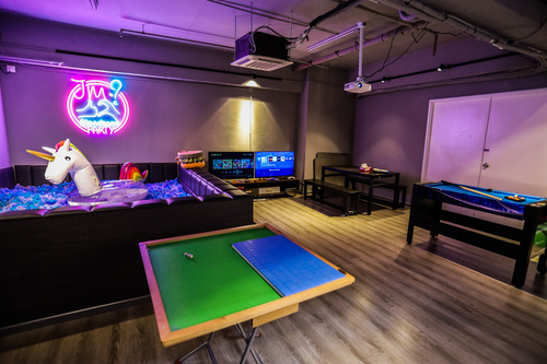 Party Room 荃灣 Hong Kong hk 香港 玩樂活動 場地 JM PARTY - Chill Grey 適合 8 至 50 人