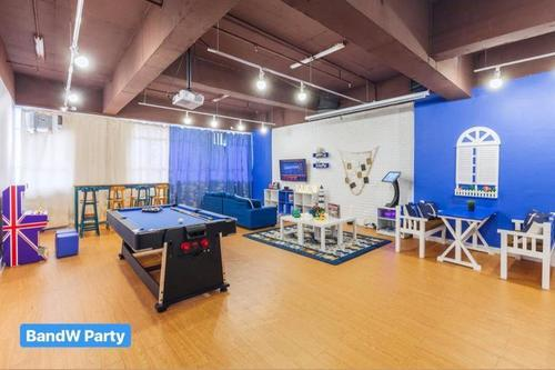 Party Room 火炭 Hong Kong hk 香港 玩樂活動 場地 Party Blue and White (包全場) 適合 30 至 80 人